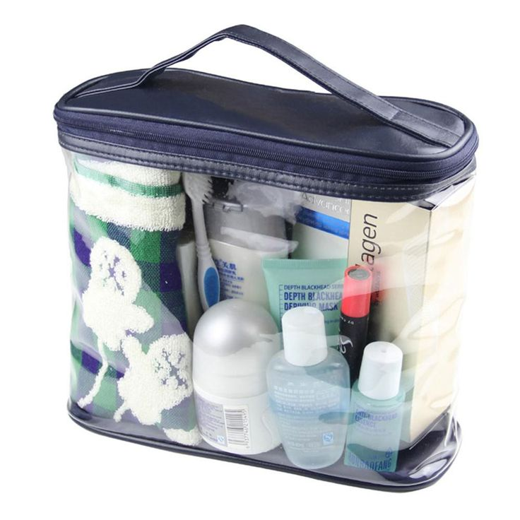 Travel Transparent Waterproof Women Toiletry Kit