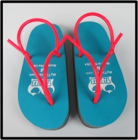 Tiddies brand flip-flops/sandals what everyone wore when I was in high school...   Turquoise Big Knockers