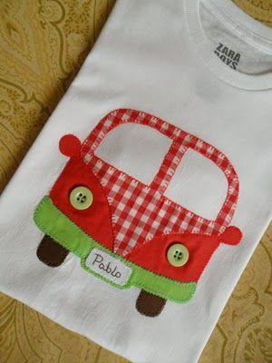 Aplicación de furgoneta en camiseta