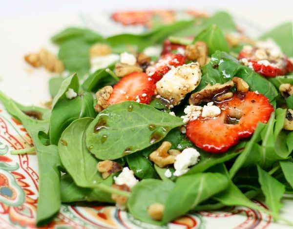 Check out these four glorious, green salad recipes – perfect for a 4th of July BBQ, or a complement to any summer meal! http://fabandfru.com/2012/07/four-delish-4th-of-july-salads/#