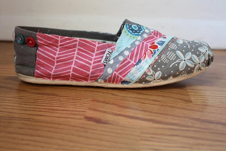 DIY Fabric Covered Toms tutorial!