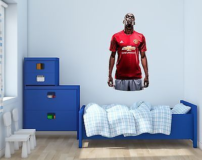 Household Items: Paul Pogba Manchester United Dab Wall Decal Vinyl Sticker  For Room Home Bedroom Part 93