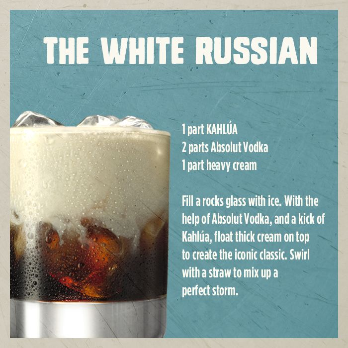 how to make a white russian drink with kahlua