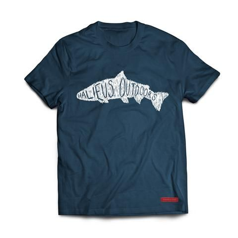 Scribble T  We can't comment on your technique or experience, but whether you're out on the water looking for trout, salmon or anything—anything—that'll take your bait, this shirt will at least make you look like you belong there.  And because it's made from a tri-blend fabric, you're going to feel pretty darn good wearing it.