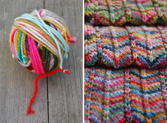 Leftover yarns ... But use a Russian join in place of those knots