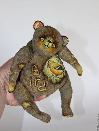 """Teddy bear / Мишки Тедди ручной работы. Ярмарка Мастеров - ручная работа. Купить Музыкальный мишка """"Bird"""". Handmade. Музыкальный подарок, птица"""