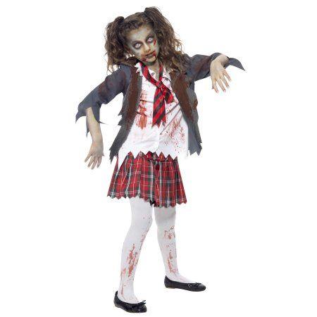 Kids Zombie School Girl Costume - Walmart.com