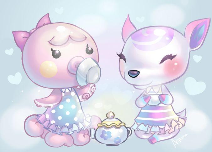 Marina and Diana fanart...love love LOVE the pastels!!
