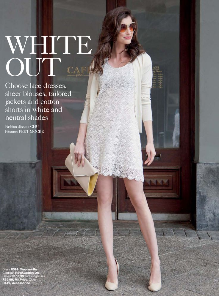 Luisa Pasinatto featured in YOU Magazine looking absolutely gorgeous in white. Photographer: Peet Mocke Photography