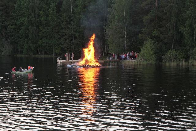 Bonfire in Midsummer festival.