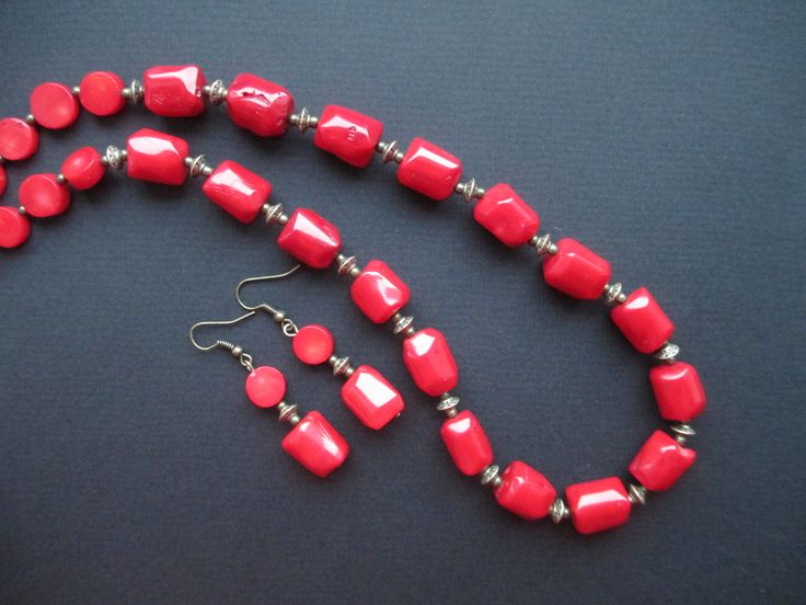 coral beads handmade jewelry Dragee