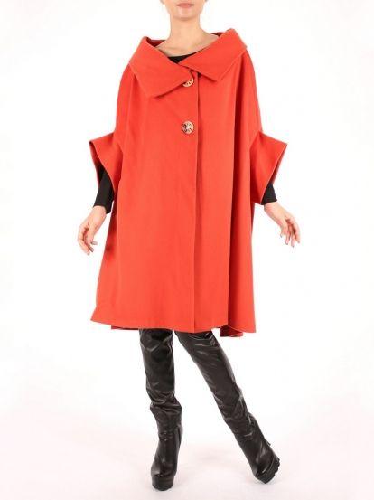 Γυναικείο παλτό  LOEIL - κοραλί