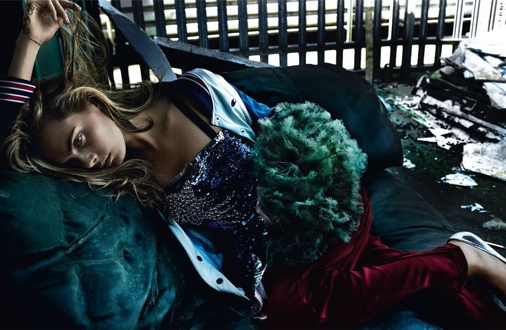 Back on Track - Cara Delevingne by Mario Testino for Vogue UK September 2016 - Valentino