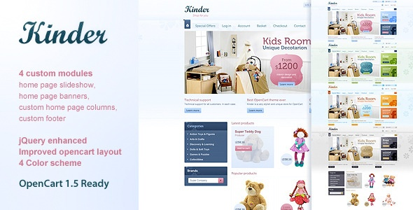 Kinder | Superb theme with simple, clear layout | Demo: http://tzelewski.co.uk/template/?theme=Kinder | Price: 20$