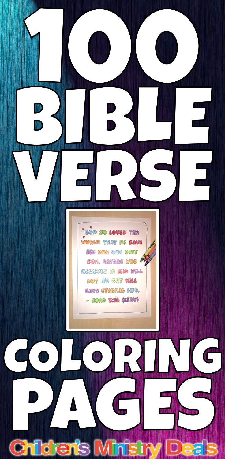 100 Bible Verse Coloring Pages Best Children S Ministry Ideas