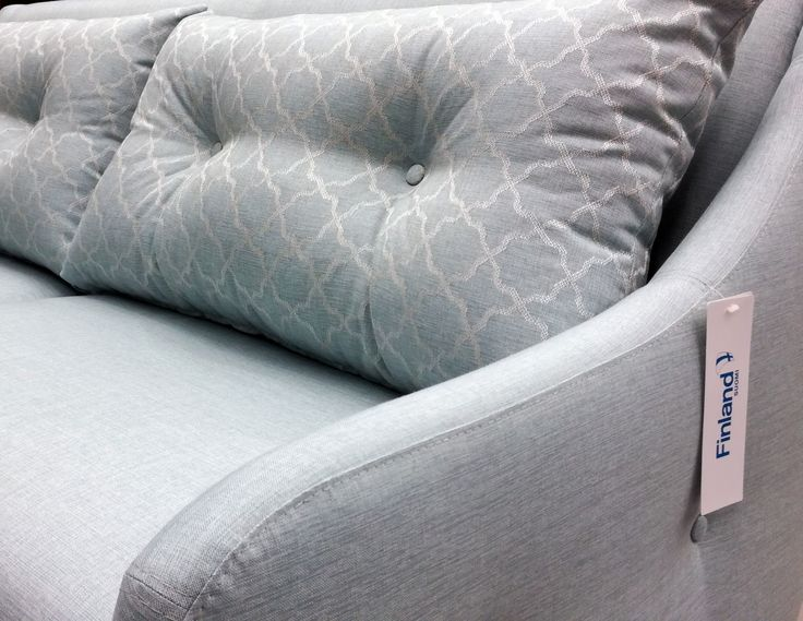 💜 Sofa of the Day 💜 Taivaansininen ihanuus valmiina uuteen kotiin ☁ | Sky blue beauty ready for a new home ☁ Malli / Model: Jenson Kangas / Fabric: Eton River & Twyford River  #pohjanmaan #pohjanmaankaluste #picoftheday #instapic #furnituremaker #armchair #sofa