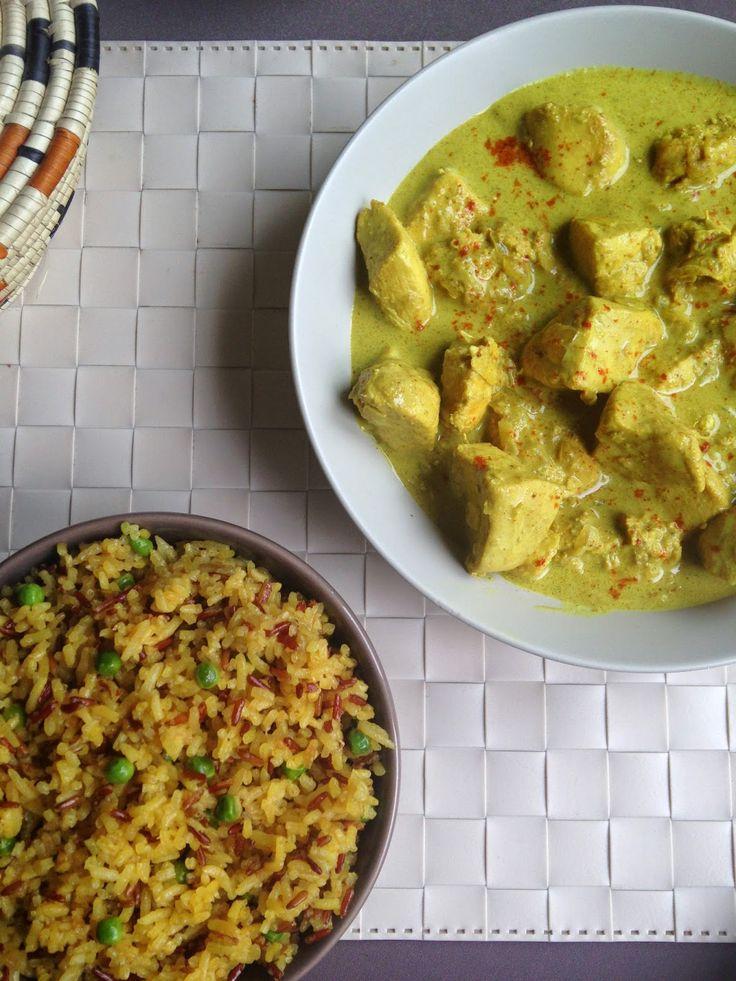 Curry de Poulet au Lait de Coco et Riz Parfumé {A l'Indienne} et une petite Surprise^^