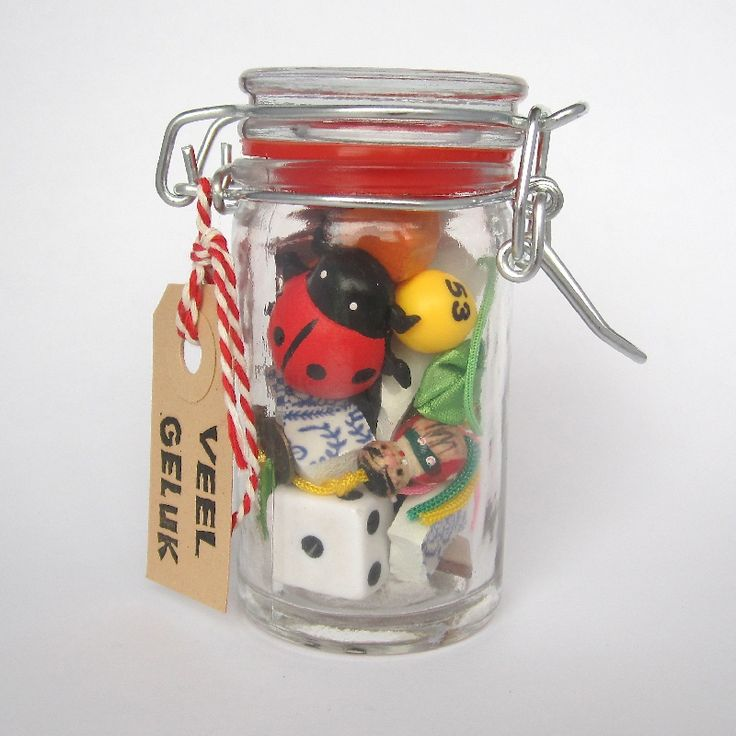 - 'lots of good luck' jar - 'veel geluk' potje