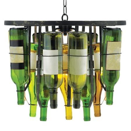 Wine Bottle Pendant Light.: Wine Cellar, Ideas, Wine Racks, Lights Fixtures, Wine Bottle Chandeliers, Islands Pendants, Wine Bottles, Pendants Lights, Products