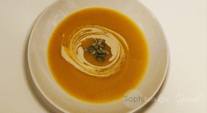 Velvet Butternut Squash Soup- sophreakin good. | Yum in my tum: Lunch ...