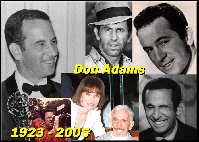 Don Adams, actor, director, comedian (Get Smart) 1923-2005