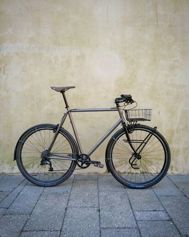 This thing gets me places.. - - - - - - - #baaw #titanium #titaniumbike #cyclocross #adventurebike #randoneur #rando #randonneuring #touring #brooks #brooksengland #schwalbe #mtb #roadbike #allroad #porteur #lfgss #fixieking #gravel #gravelgrinder #explore #ride #cycle #bike #bicycle #surly #crosscheck #onone #retrobike