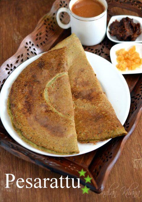 Andhra Pesarattu Recipe | Pesarattu Dosa (Green Moong Dal)   Protein packed breakfast with Andhra popular Pesarattu or Moong Dal Dosa.