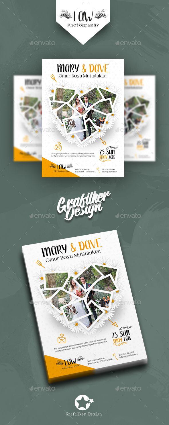 Best Wedding Flyer Template Images On   Flyer