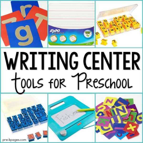 The Best Writing Center Tools for your Preschool or Kindergarten classroom. Writing tools to motivate little learners to write for authentic purposes - and they'll have fun doing it too!