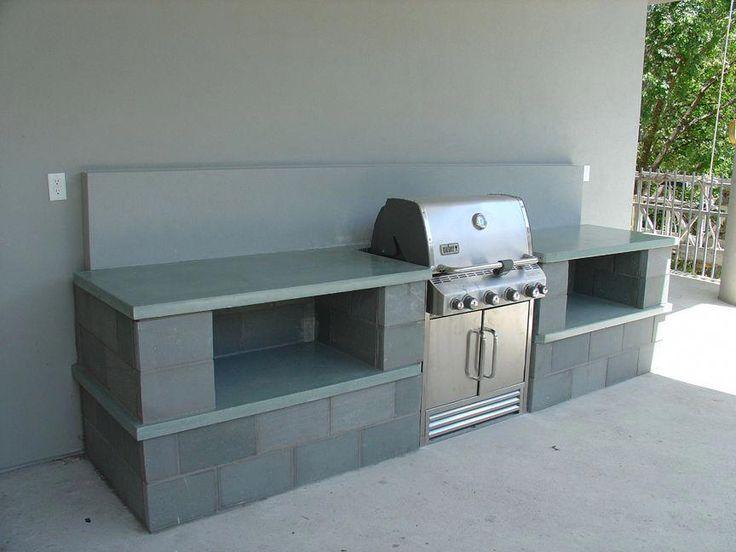 "outdoor concrete kitchen countetop #""outdoorkitchencountertops"""