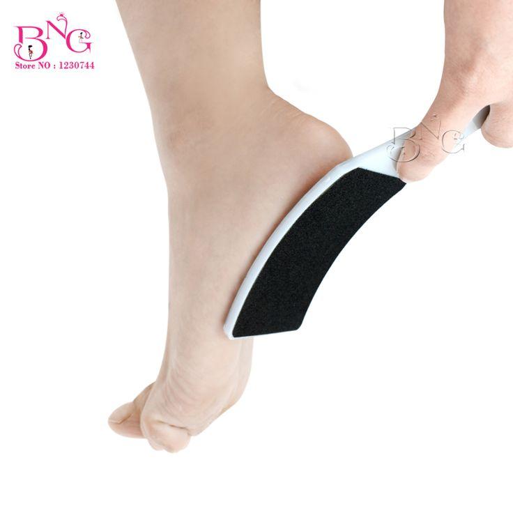 2pcs/lot Hard Plastic Double Sides Fine Grit & Coarse Grit Foot Rasp Sanding File Foot File Pedicure Callous Remover Tools