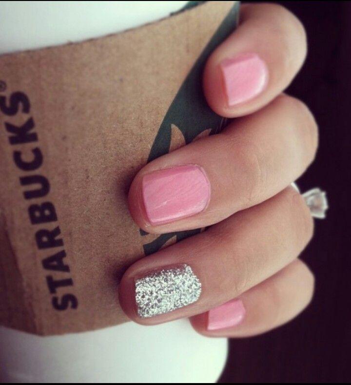 Silver pale pink nails | DIY Being Fabulous | Pinterest | Manzanas ...