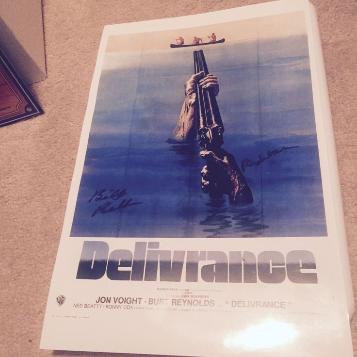 Delivrance poster signed by Ronny Cox and Billy Redden