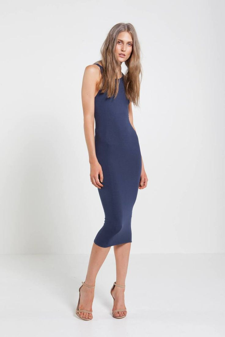 Mossman - Cut Both Ways Dress Midnight Blue