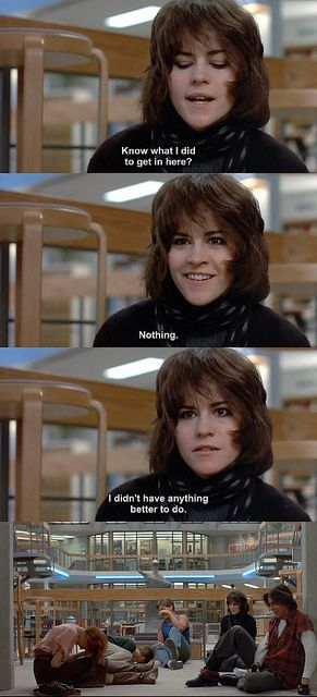 The Breakfast Club (1985) by pineappleupsidedown, via Flickr