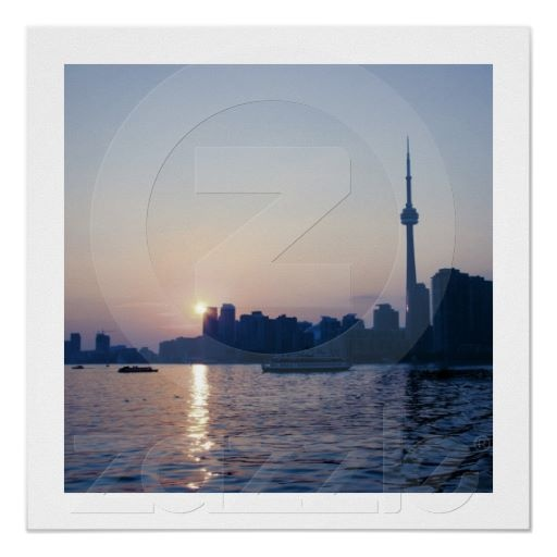 Toronto skyline sunset print