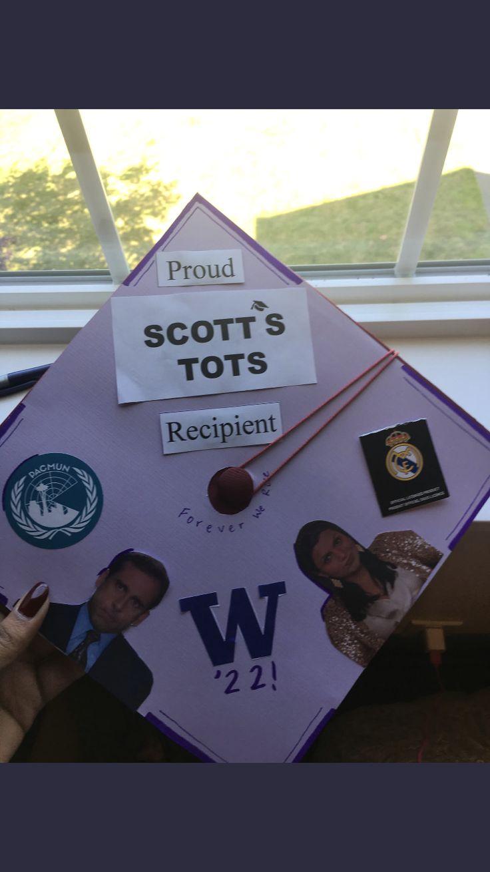 The decoration Scotts Tots office graduation cap
