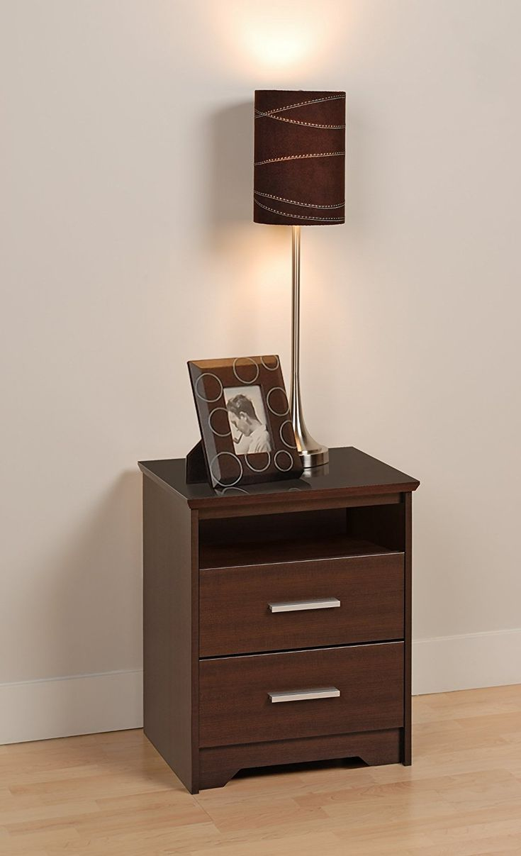 Prepac Espresso Coal Harbor 2 Drawer Tall Nightstand with Open Shelf  Amazon  ca. 17 best ideas about Tall Nightstands on Pinterest   Diy bedside