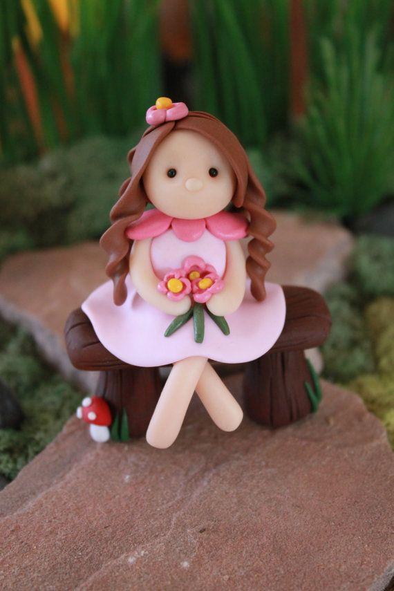 Polymer Clay Fairy Clay Fairy Fairy Garden by GnomeWoods on Etsy