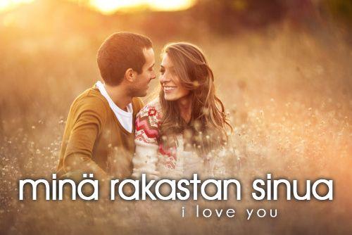 minä rakastan sinua ~ I love you