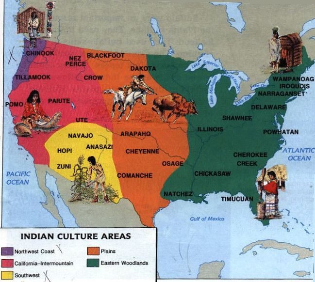 Native American tribe map Native Americans
