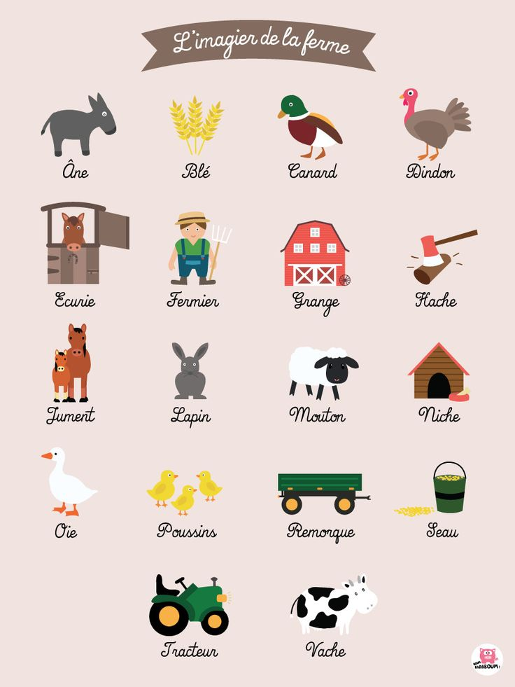 """Affiche chambre enfant """" L'imagier de la ferme """" : Autres bébé par boumbadaboum"""