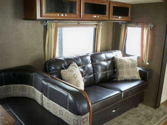 2016 New Forest River Vibe 272BHS Travel Trailer in Indiana IN.Recreational Vehicle, rv, 2016 Vibe 272BHS 2016 VBT272BHS 2016 VIBE 272BHS , SADDLE DECOR, ONE TOUCH ELECTRIC AWNING, FULL EXTENSION BALL BEARING DRAWER GUIDES, STAINLESS STEEL KITCHEN PACKAGE, POT & PAN DRAWERS UNDER DINETTE SEATS, EXTERIOR SPEAKERS (2), XL GRAB HANDLE, COACH-NET ROADSIDE ASSISTANCE, RADIAL TIRES FILLED W/NITROGEN, HEATED AND ENCLOSED UNDERBELLY, STABILIZER JACKS, AERODYNAMIC PAINTED FIBERGLASS FRONT CAP, SINK…