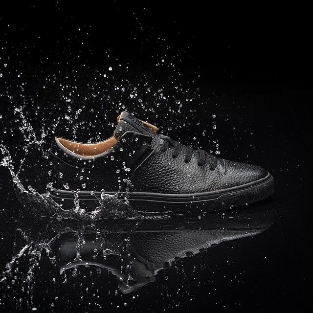 "Looks really nice! ""CLOUD | PREMIUM LEATHER | ✖️BLACK MONO✖️ www.jimrickey.com #jimrickey #handmade #sneakers #walkoflife"""