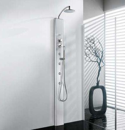 Душевая панель является прямой альтернативой гидромассажной ванне, причем более дешевой. Сравнивая ее и простые душевые кабины, замечаешь, насколько приятнее пользоваться душем с гидромассажем. #санузел #плитка #сантехника  Огромный выбор на нашем сайте: http://santehnika-tut.ru/dushevye-paneli/