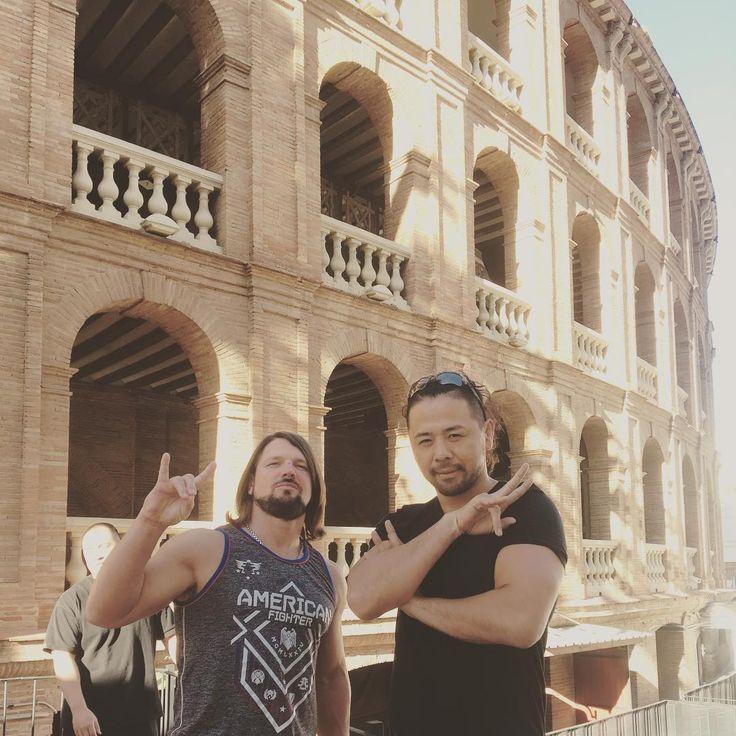 AJ Styles and Shinsuke Nakamura in Rome, Italy