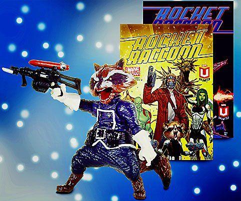 Marvel Digital Comics Unlimited Exclusive Marvel Legends Rocket Raccoon Figure