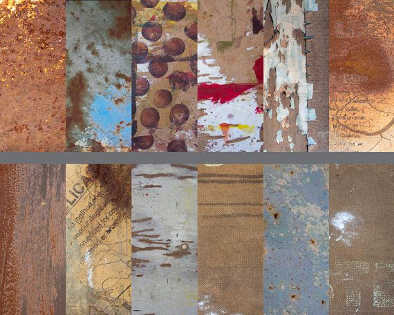 Rusted Treasure; high quality textured photo backgrounds for digital scrapbooking, graphic design, collage, art projects. $5