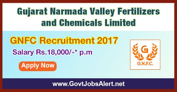 GNFC Recruitment 2017 - Hiring Junior Sales Representative Post, Salary Rs.18,000/- : Apply Now !!!  The Gujarat Narmada Valley Fertilizers and Chemicals Limited – GNFC Recruitment 2017 has released an official employment notification inviting interested and eligible candidates to apply for the positions of Junior Sales Representative. The eligible candidates may apply online through the official website (given below).   #B.Sc #B.scJob #December312017 #featured #GNFC #G