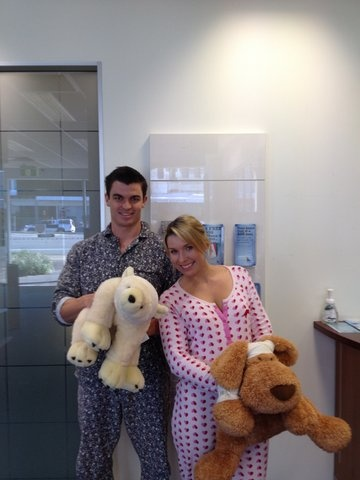 Chermside Branch, love the Onesie!